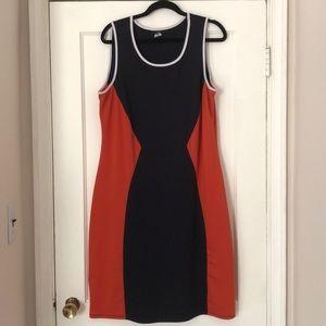 ING Navy and Orange Dress